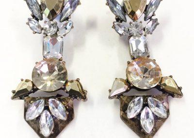Exquisite gem statement earrings