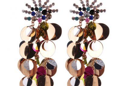 Fireworks gem statement sequin earrings
