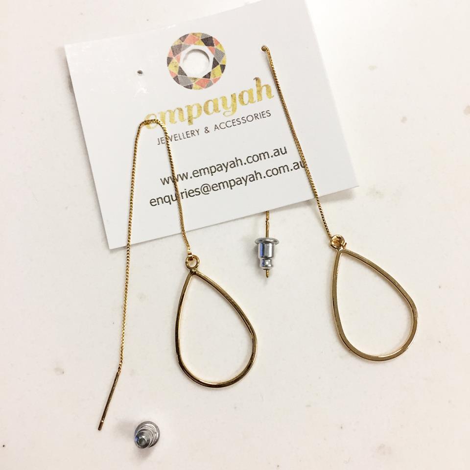Teardrop Thread Earrings Shop Online Empayah Jewellery