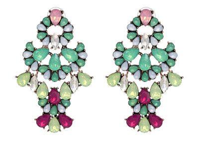 Ariel gem statement earrings multi colour
