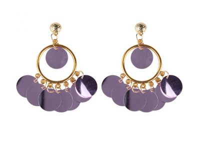 Bling a ling earring lilac