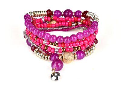 Pruella stretch bracelet set pink tones