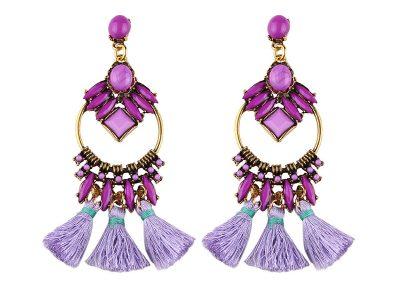 Summer time fashion earring purple